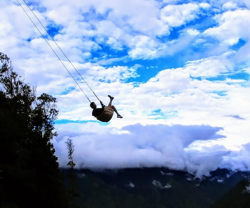 Die actionreichen Schaukeln in Baños, Ecuador