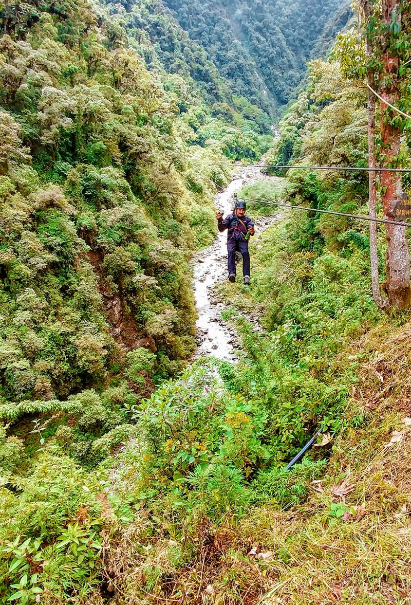 Günstiges Ziplining im Outdoor-Paradies Baños in Ecuador