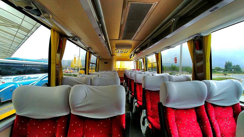 Unser Bus von Quito nach Baños mit Expreso Baños