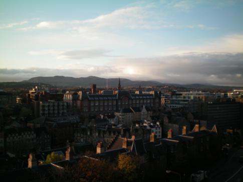 Ausblick vom Edinburgh Castle in Richtung Südwesten