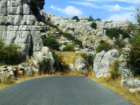 Anfahrt zum Naturpark El Torcal