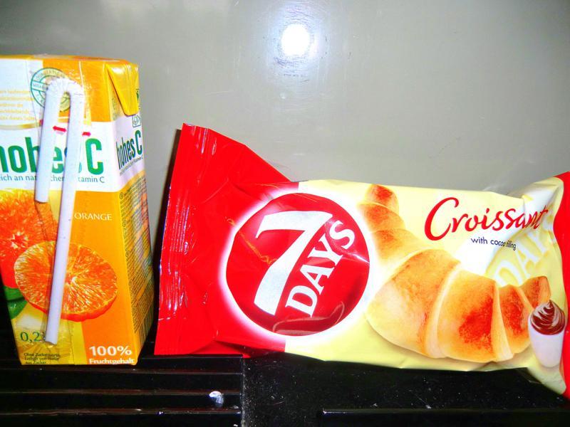 Mini-Frühstück im Euronight nach Budapest