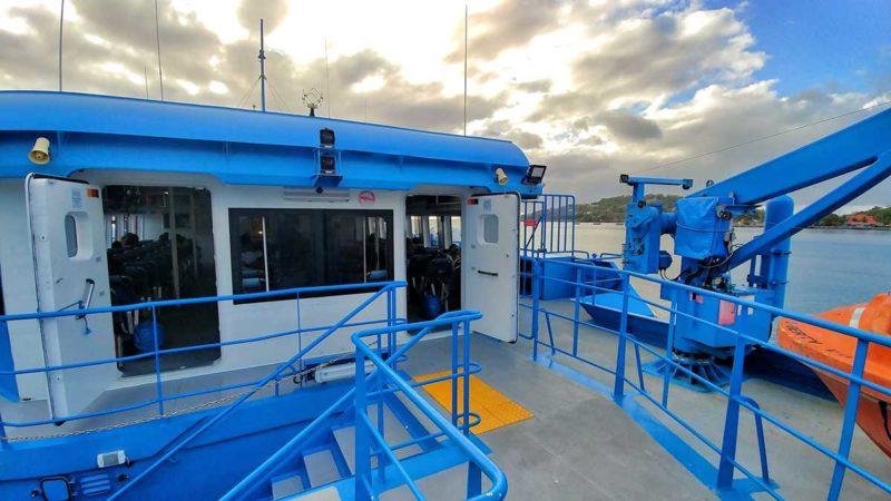 Die Fähre von Express des Iles zwischen St. Lucia, Martinique, Dominica und Guadeloupe