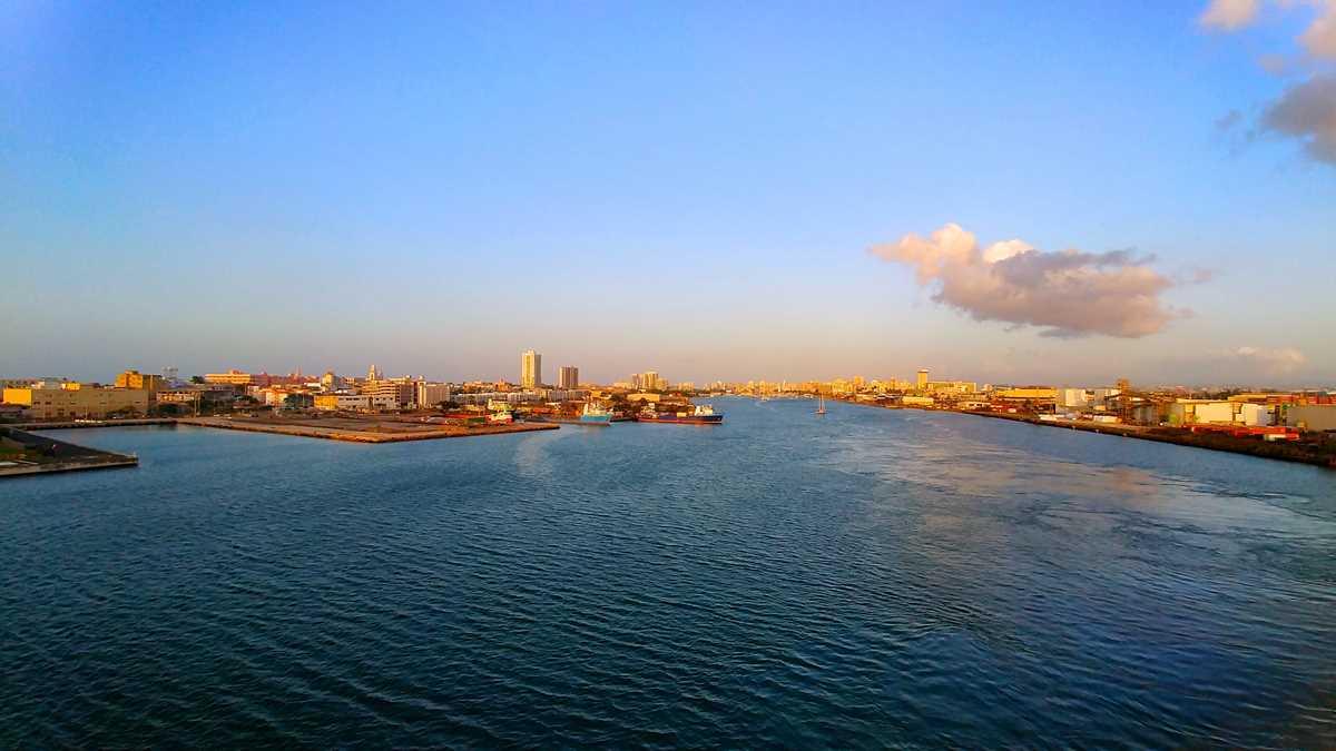 Blick auf den Hafen von San Juan in Puerto Rico