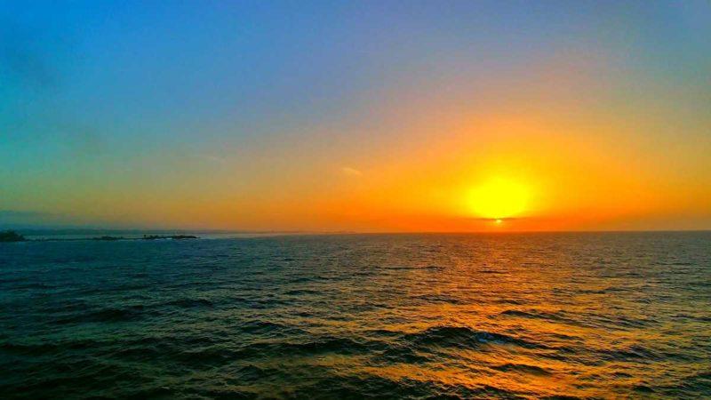 Sonnenuntergang während der Fährüberfahrt mit Ferries del Caribe von San Juan nach Santo Domingo
