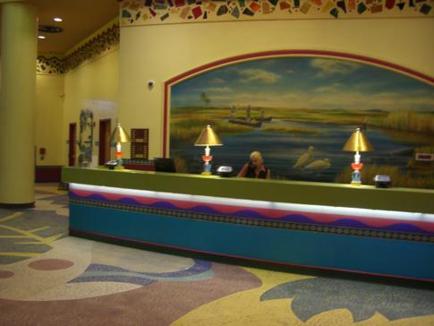Die Rezeption des Miccosukee Resort and Casino in Florida