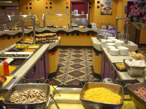 Das üppige und sehr günstige Frühstücksbuffet im Miccosukee Resort and Casino