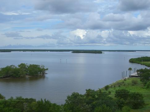 Ausblick vom Tower im Ort Everglades City