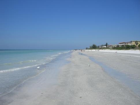 Einer der kilometerlangen Strände von Clearwater Beach in Florida