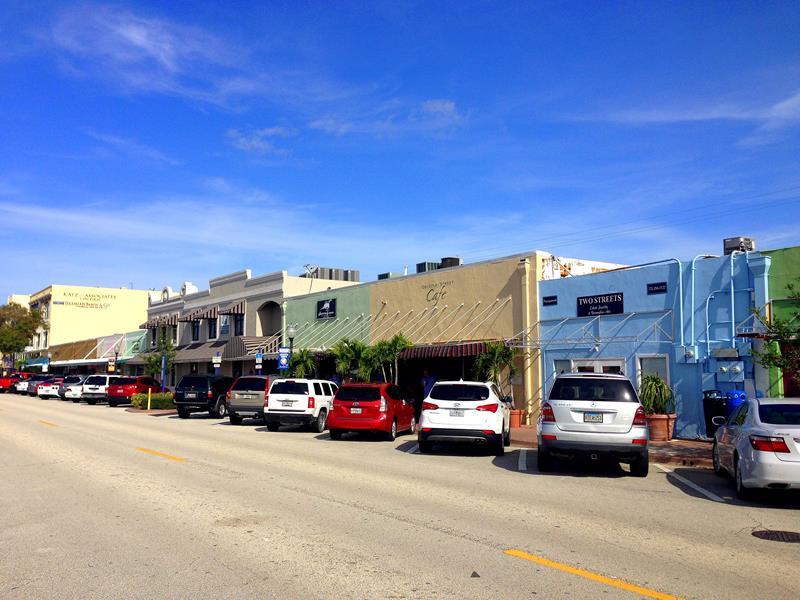 Die kleine hübsche Altstadt von Stuart an der Ostküste von Florida
