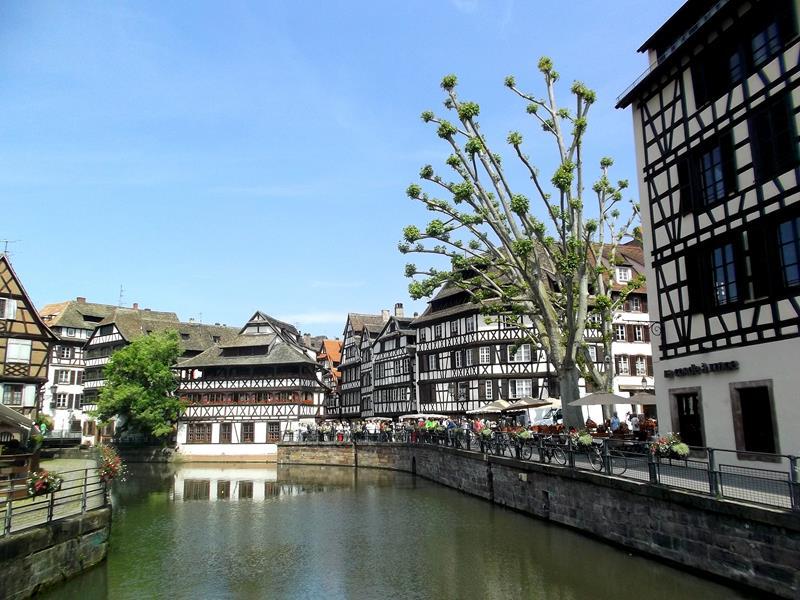 Das hübsche Viertel Petit France in Straßburg