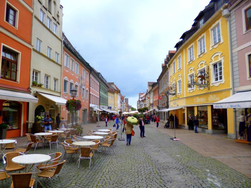 Die schöne Altstadt in Füssen