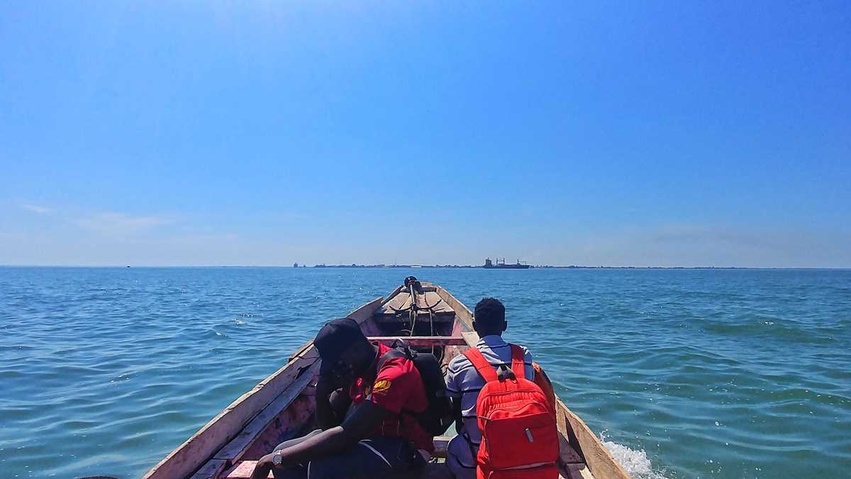 Überfahrt auf dem Gambia River von Barra nach Banjul