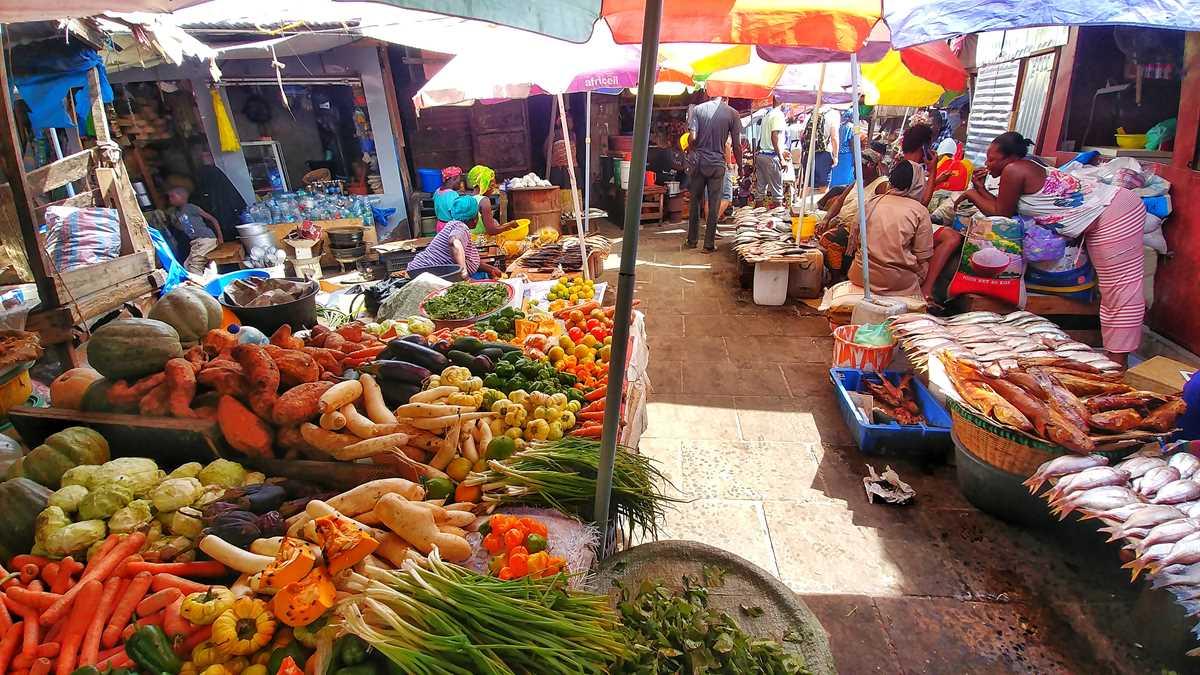 Der lebendige Albert Market in der Hauptstadt Banjul