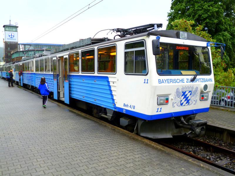 Die Zugspitzbahn in Garmisch-Partenkirchen