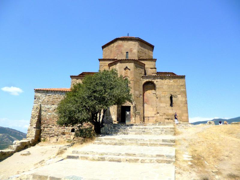 Das Jvari-Kloster in den Höhen von Mtskheta