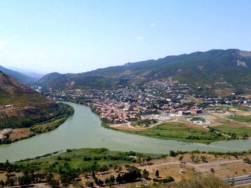 Ausblick aus Mtskheta vom Jvari Monestary