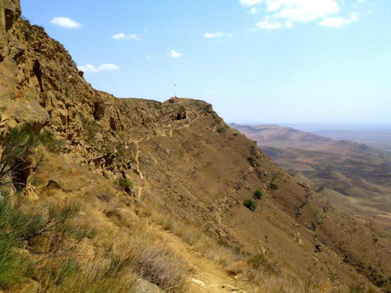 Wahnsinnig tolle Szenerie am Kloster von David Gareja an der Grenze zu Aserbaidschan