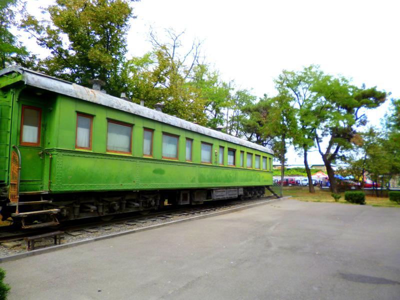 Der Wagon, mit dem Josef Stalin 1944 zur Konferenz nach Jalta fuhr