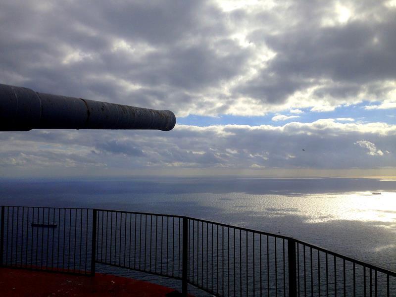 Die O Hares Battery auf dem Upper Rock von Gibraltar
