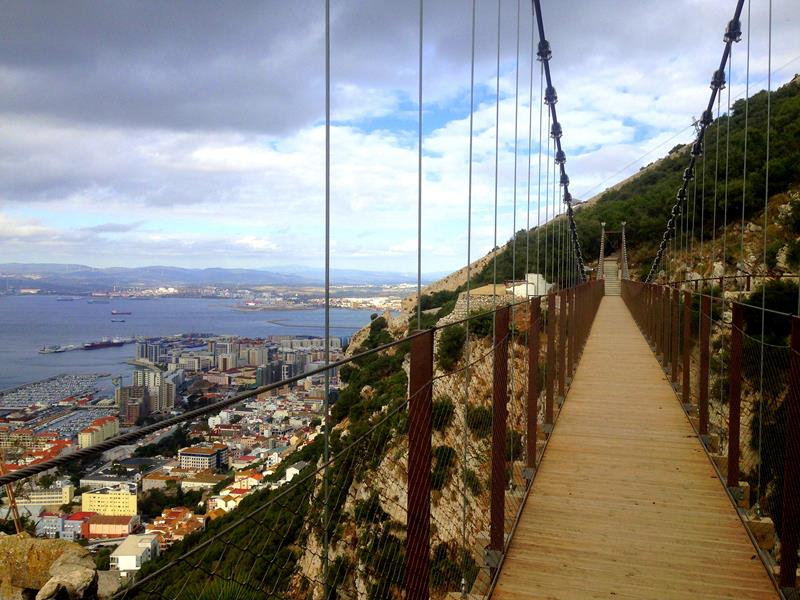 Die neue Windsor Suspension Bridge auf Gibraltar