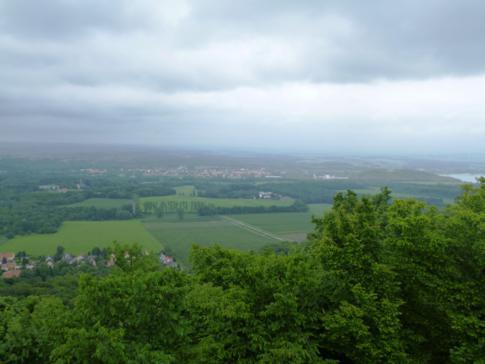 Ausblick von der Landeskrone auf Görlitz, Polen und Tschechien