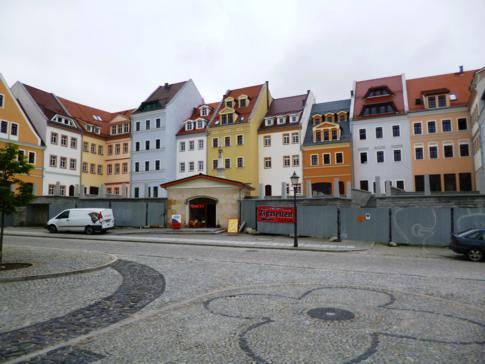 Die erste Häuserfront von Zgorzelec