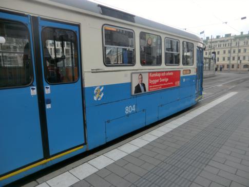 Eine der Straßenbahnen in Göteborg, die fast letzten verbliebenen in Schweden