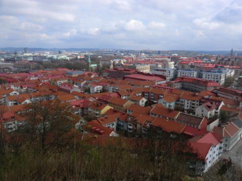 Ausblick von Skansen Kronan auf Haga und die Altstadt von Göteborg