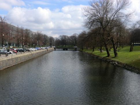 Der Rosenlundkanal, der die Altstadt vom restlichen Göteborg trennt