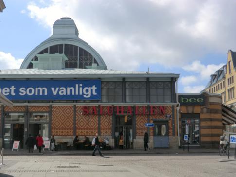 Die Saluhallen von Göteborg, leider während meines Besuchs in einer großen Umbauphase