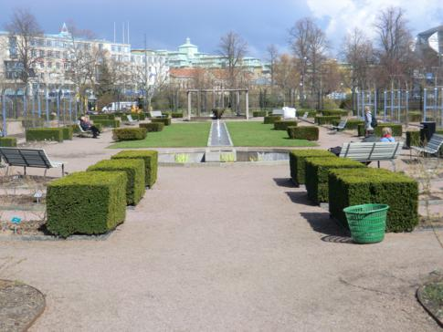 Das gepflegte Rosarium im Trädgardsforeningen von Göteborg
