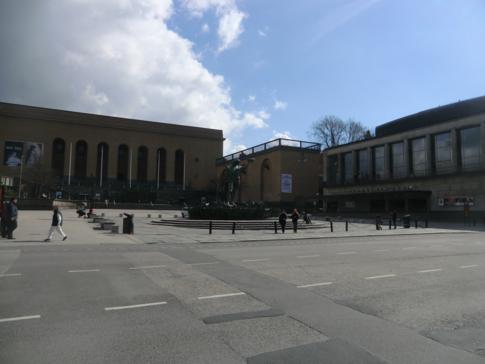 Der Götaplatsen, zweiter historisch bedeutender Platz in Göteborg, gemeinsam mit dem Gustav Adolfs Torg