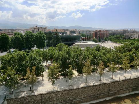 Ausblick von unserem Zimmer auf die südlichen Stadtteile von Granada