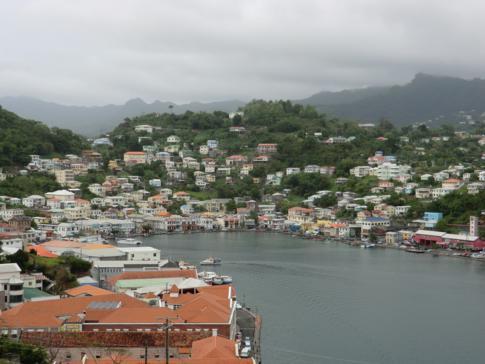 Blick auf Saint Georges Inner Harbour