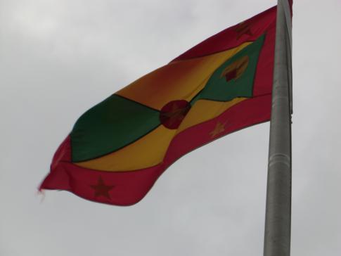 Die Staatsflagge von Grenada