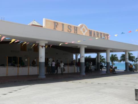 Die Fischmarkthalle in Grenville