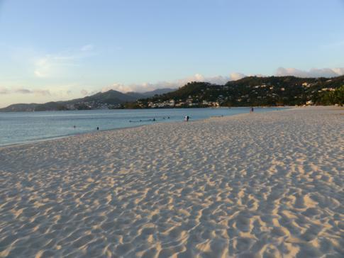 Der Grand Anse Beach auf Grenada, Blick in Richtung Norden