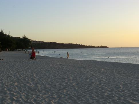 Der Grand Anse Beach auf Grenada, Blick in Richtung Süden