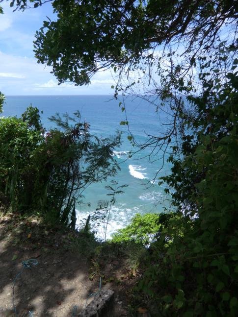 Der Caribs Leap auf dem Leapers Hill in Sauteur
