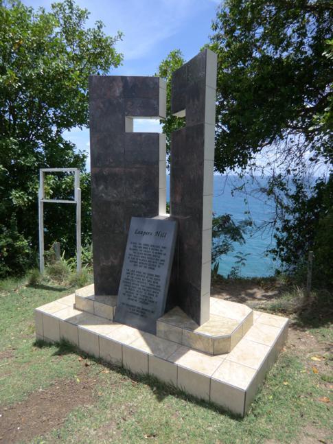 Das Denkmal auf dem Leapers Hill