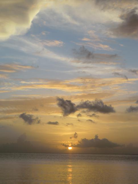 Sonnenuntergang am BBC Beach in der Morne Rouge Bay