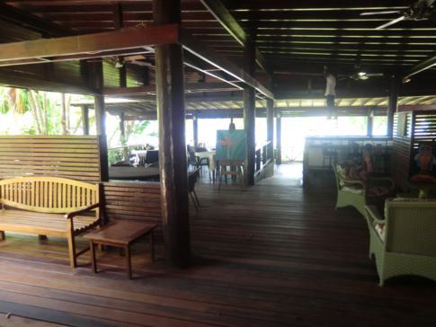 Das Restaurant in La Sagesse an der Ostküste von Grenada