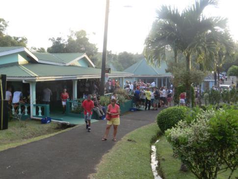 After-Hash-Party, hier am Besucherzentrum des Grand Etang National Parks