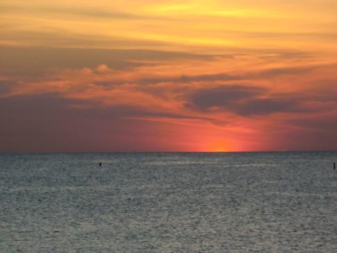 Sonnenuntergang am Grand Anse Beach in Grenada