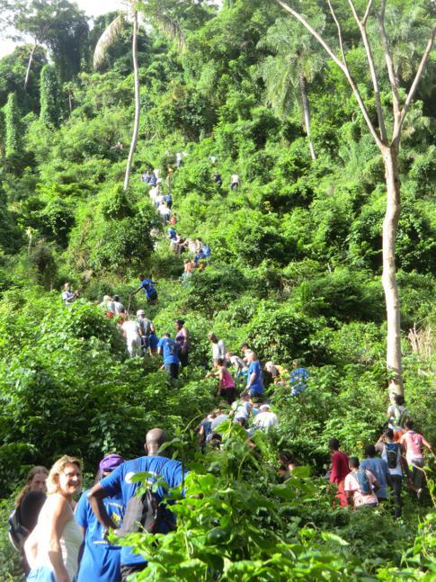 Das Highlight des sportlichen Teils des Hashs: der Anstieg auf den Gipfel