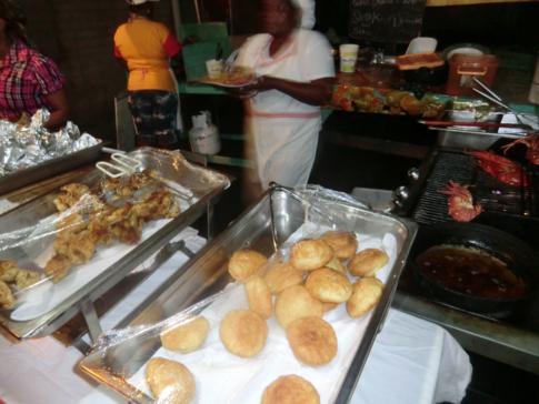 Große Spezialität auf dem Fish Friday in Gouyave: Lobster!