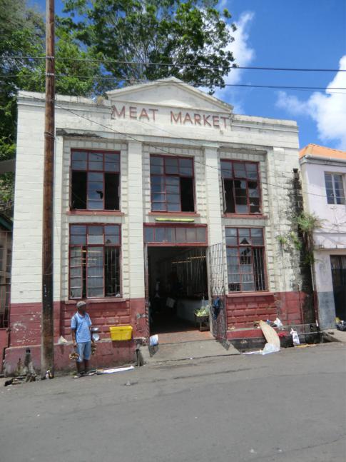 Der Fleischmarkt im Zentrum von St. Georges, die Hauptstadt von Grenada