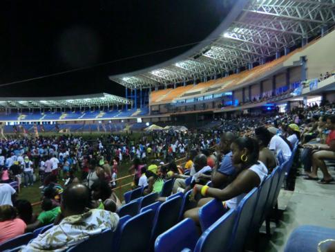 Die Soca Monarch Show im Rahmen des Karneval (Spicemas) in Grenada