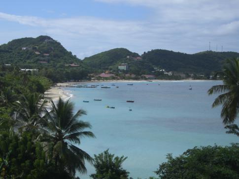 Blick auf die Bucht von Grand Anse, dem Paradestrand von Grenada